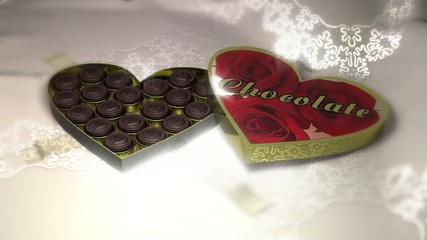 box of chocolate heart