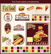 Fast Food Labels and elements