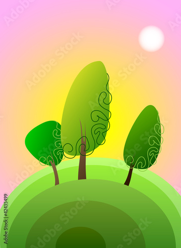 poplar tree, vector