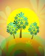 summer chestnut tree, vector