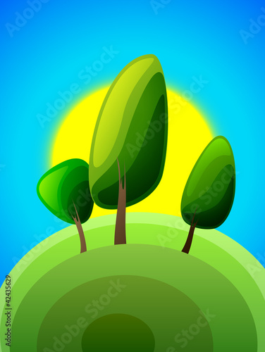 dawn poplar tree, vector