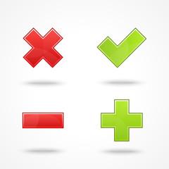 Satin web 2.0 button validation icons.