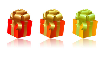Nuance de cadeaux orangés