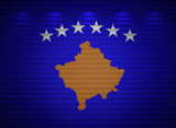 Kosovo flag wall, abstract background poster