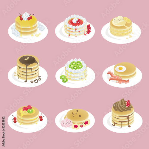 Fancy pancakes with 9 different look
