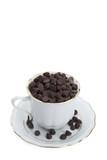cup of chocolate chips