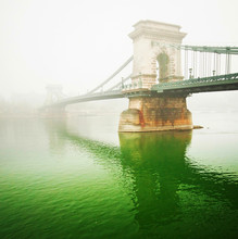 Le célèbre Pont des Chaînes à Budapest, Hongrie