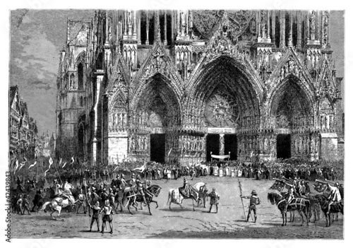 King's Coronation - Reims, year 1380 (CharlesVI)