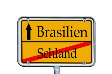 Ortsschild Schland / Brasilien