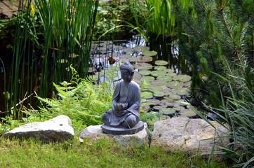 Gartenteich Buddha