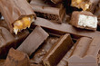 dark chocolate crispy rice wafer bar