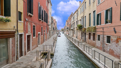 Venice, the jewel of  the Adriatic sea, Italy. Channel view.