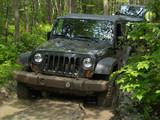 4x4 sur sentier en forêt