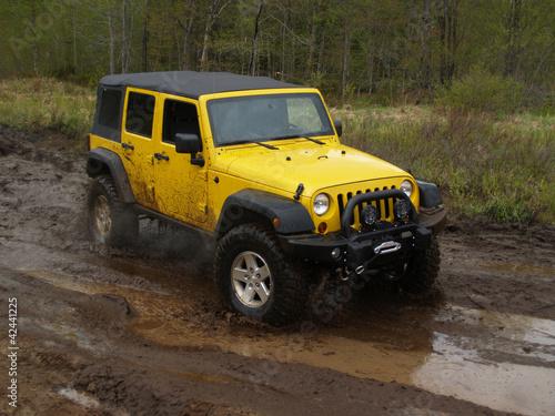 Fototapeten,jeep,schlamm,gelb,lastkraftwagen