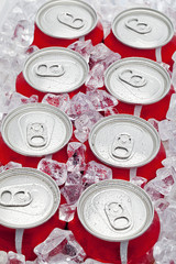 eight pop cans