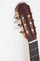 Guitar against a wall