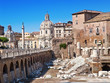 Italy. Rome. Ruins of a forum of Trajan..