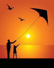 The girl and kite
