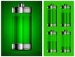Energy battery in green