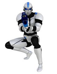 troper with a laser gun