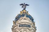Metropolis building at Madrid, Spain poster