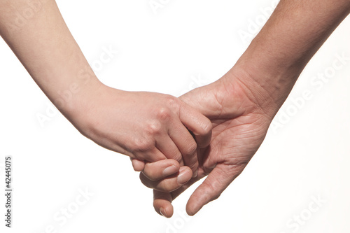 Couple, holding hands
