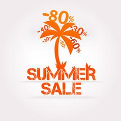 Vector summer sale design template. Fresh discounts.