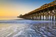 Folly Beach Pier Charleston SC Atlantic Ocean Sunrise