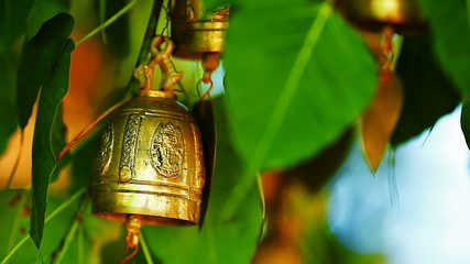 Wishing bells outside the buddhist monastery