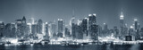 Fototapety New York City Manhattan black and white