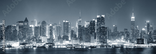 Plakat New York City Manhattan czerni i bieli