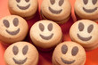 Smiling cookies, studio shot