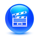 Cinema Clip Blue Button