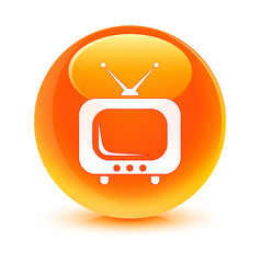TV Orange Button
