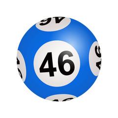 Tirage loto, boule numéro 46