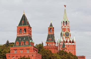 View of towers of the Moscow Kremlin