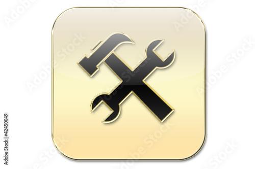 Botón oro herramientas