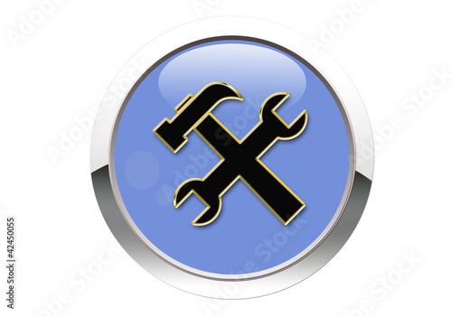 Botón azul herramientas