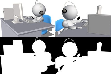 3d human Call center helpdesk