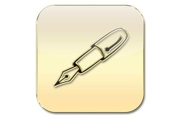 Botón oro escritura