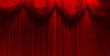 red velvet stage theater curtains