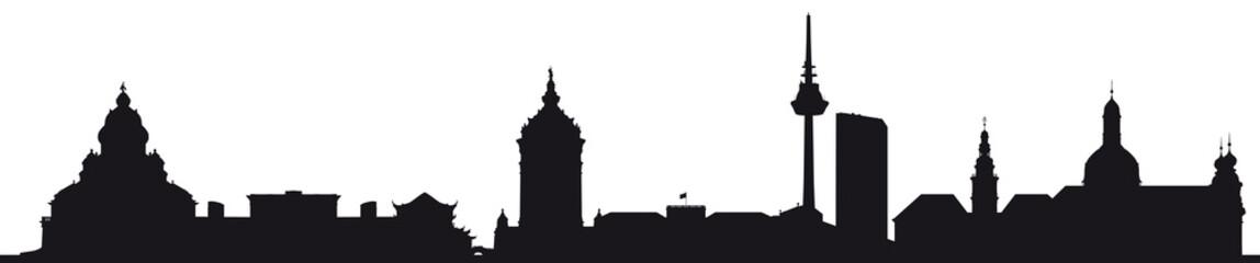 Skyline Mannheim (Silhouette)