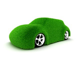 Ecologic green car poster