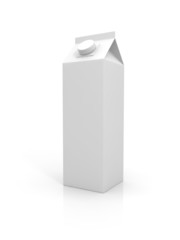 Blank milk package