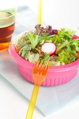 Fresh leafy green salad