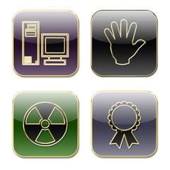 Iconos varios formas