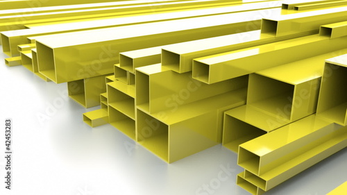 Yellow metal bars