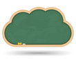 Blackboard cloud, vector eps10 illustration