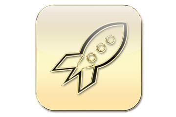 Botón oro cohete