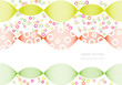 abstract vector background with colorful bubbles and waves